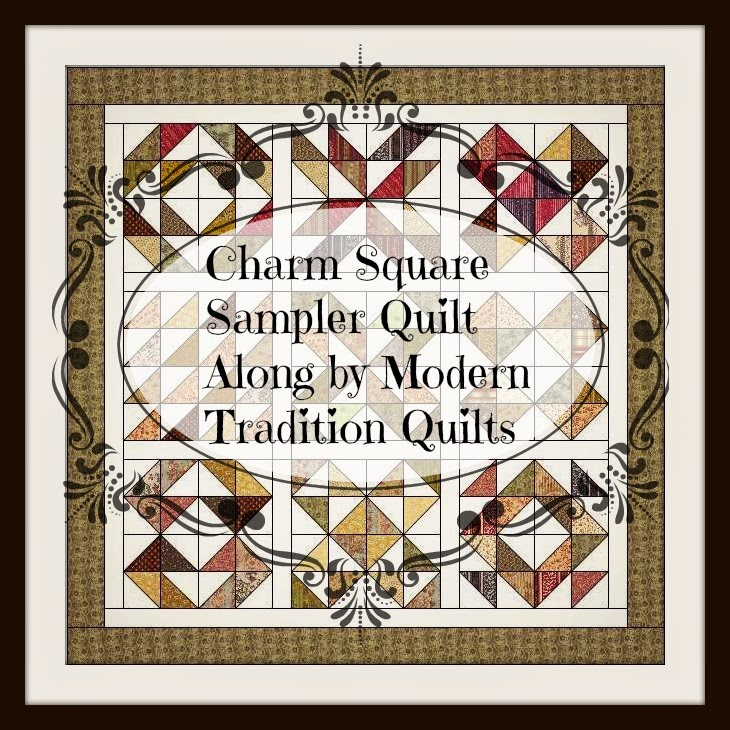 Charm Square Sampler Quilt a quilt along by Shannon of Modern Traditional Quilts | from QuiltAlong.net