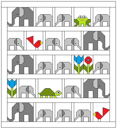Elephant Parade a quilt along by Lorna McMahon of Sew Fresh Quilts | from QuiltAlong.net