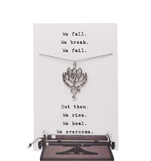 Quinnlyn - Phoenix - Om - Lotus - Pendant - Inspirational - Card