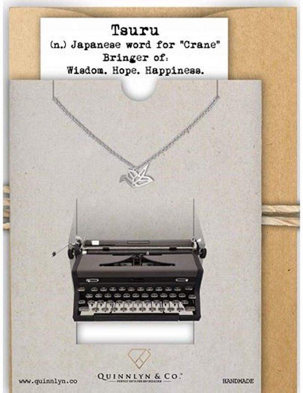 Quinnlyn - Crane - Pendant - Card - Inspirational