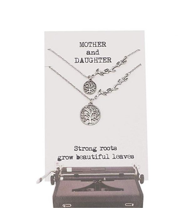 Quinnlyn - Card - Necklace - Pendant - Mother - Daughter - Tree - Of - Life - Roots