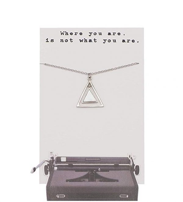 Quinnlyn - Two - Triangles - Pendant - Card - Inspirational