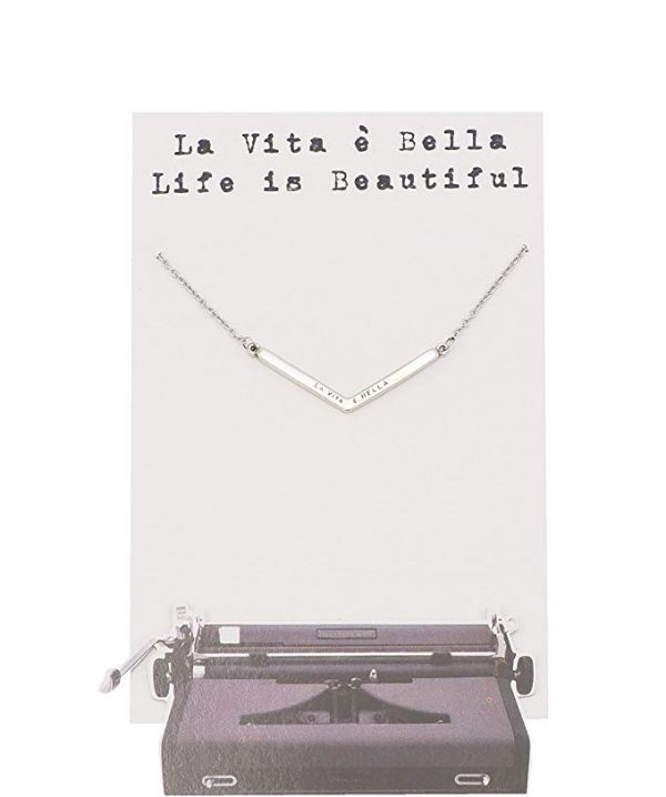 Quinnlyn - La - Vita - e - Bella - Beautiful - Pendant - Card