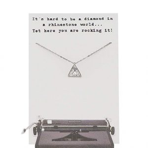 Quinnlyn - CZ - Triangle - Pendant - Necklace - Inspirational - Card