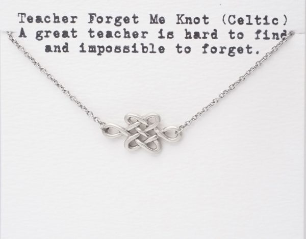 Quinnlyn - Teacher - Forget - Me - Know - Pendant - Inspirational - Card