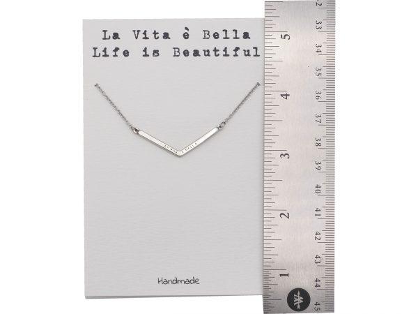 Quinnlyn - La - Vita - E - Bella - Pendant - Card - Inspirational
