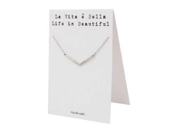 Quinnlyn - La - Vita - E - Bella - Pendant - Inspirational - Card