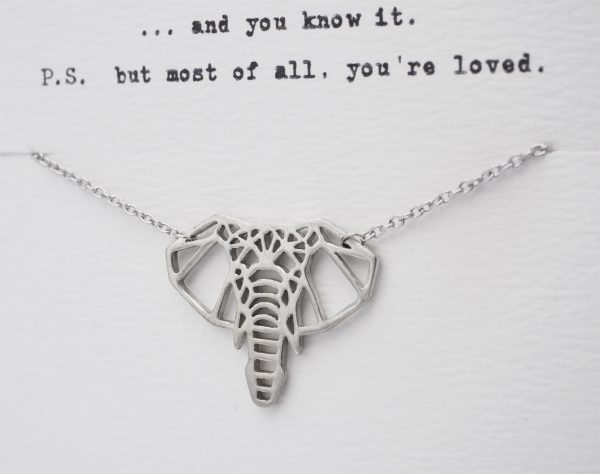 Quinnlyn - Elephant - Necklace - Pendant - Card - Inspirational