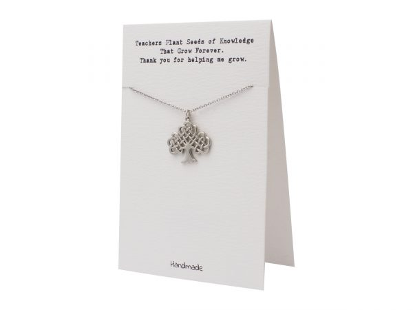 Quinnlyn - Teacher - Tree - Necklace - Pendant - Card
