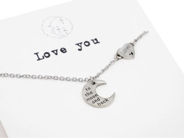 love you to the moon and back - necklace - pendant