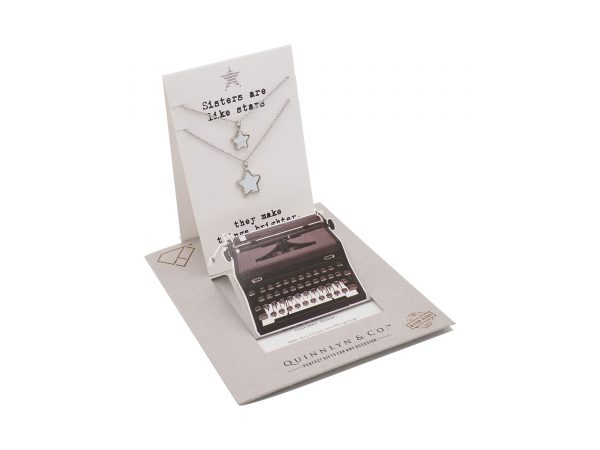 Quinnlyn - Sisters Stars Necklace - Card