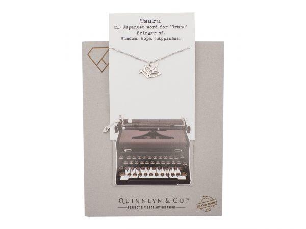 Quinnlyn - Crane - Necklace - Pendant - Card