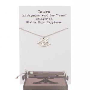 Quinnlyn - Crane Necklace - Pendant - Card