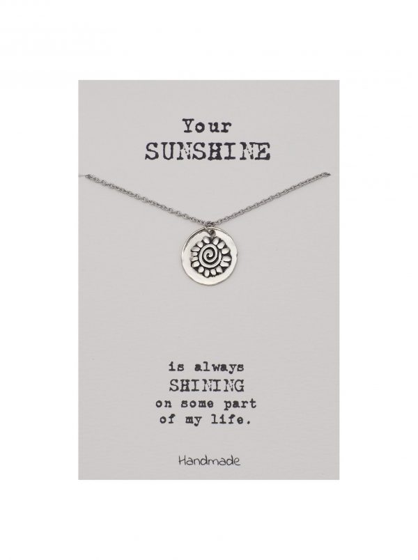 Quinnlyn - Your Sunshine - Necklace - Flower - Pendant