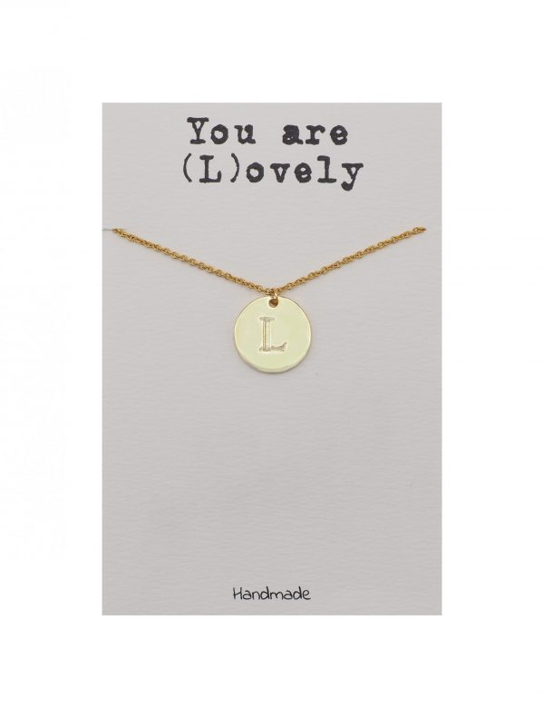 Quinnlyn - Initial L - Necklace - Pendant