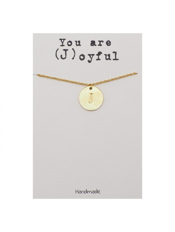 Quinnlyn - Initial J - Necklace - Pendant