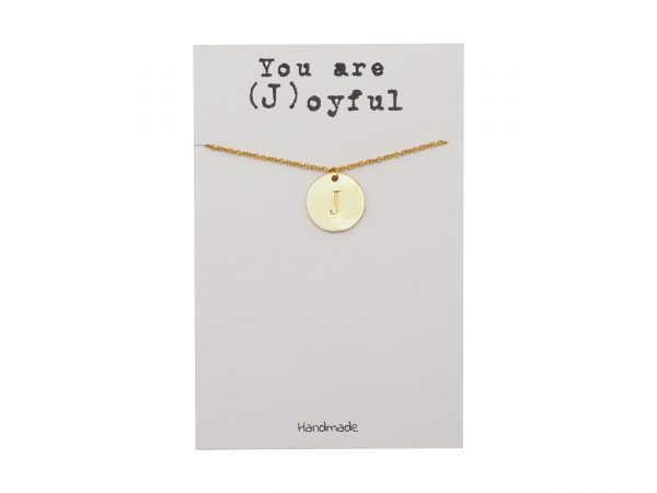 Quinnlyn - Initial J - Necklace - Pendant - Card