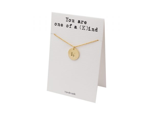 Quinnlyn - Initial K - Necklace - Pendant - Card