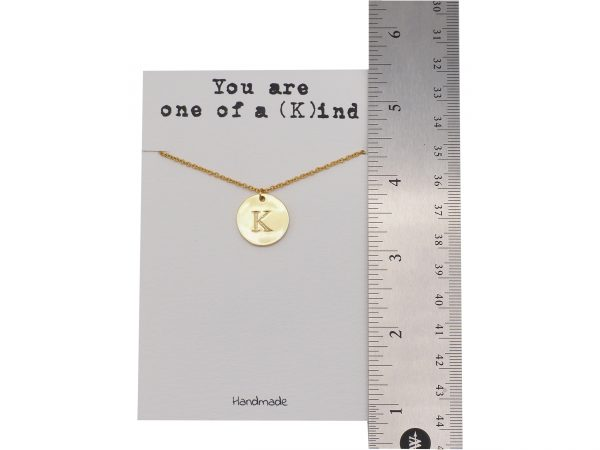 Quinnlyn - Initial K - Necklace - Pendant