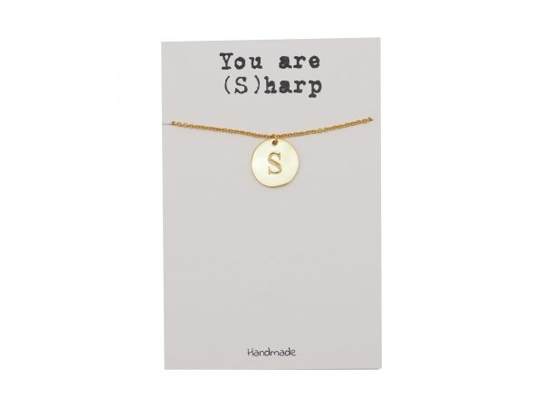 Quinnlyn - Initial S - Necklace - Pendant