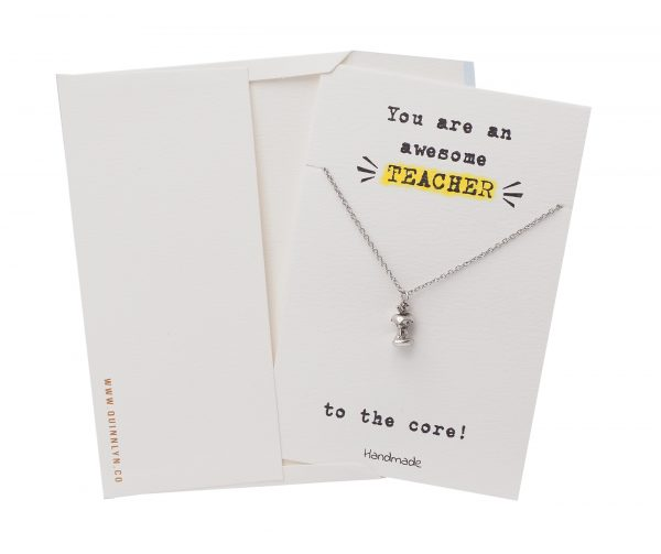 Teacher Card - Necklace - Awesome - Quinnlyn