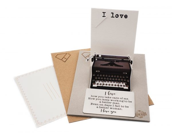 i love you wallet size card - Quinnlyn