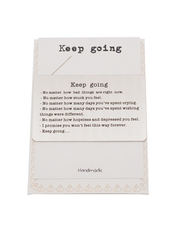 Keep Going Greeting Card - Quinnlyn