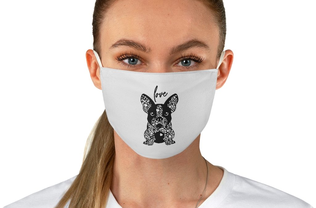 French Bulldog Love Fabric Face Mask for Men and Women