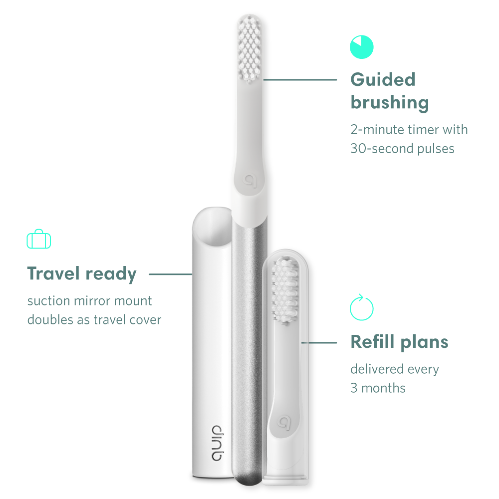 toothbrush set with travel cover and brush head