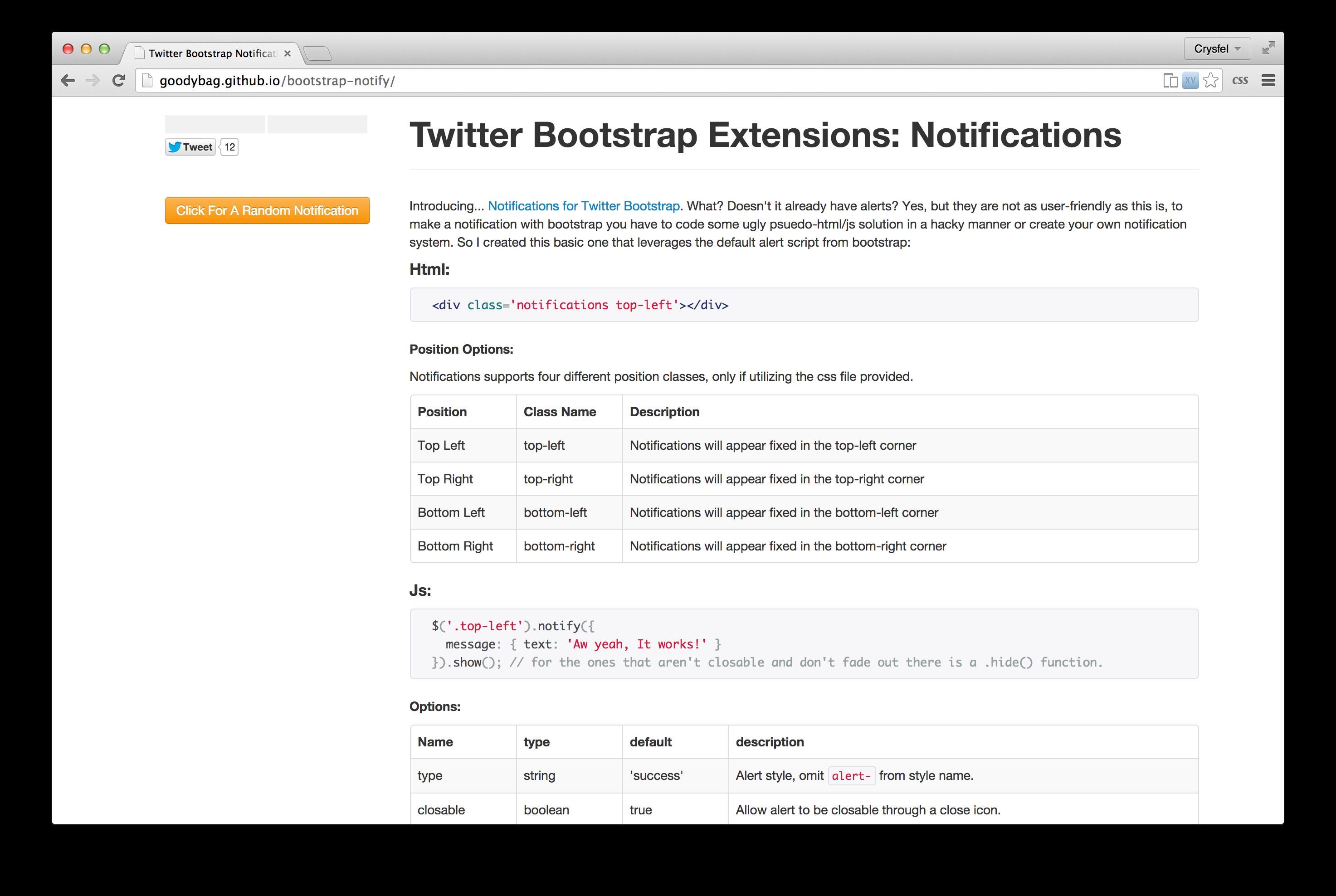 Notificaciones en bootstrap