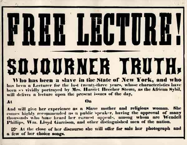 an analysis of sojourner truths speech aint i a woman fighting for the rights of women and african a