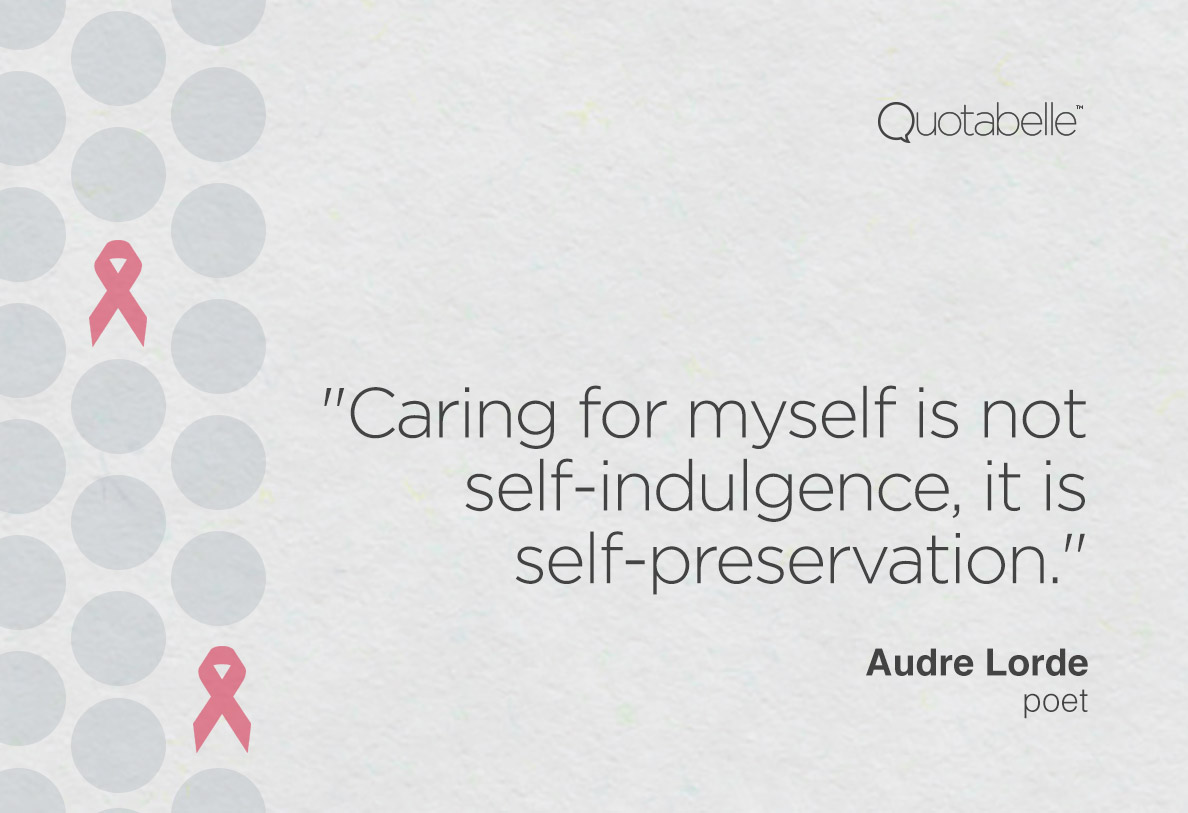 Quotabelle quote card for Breast Cancer Awareness Month