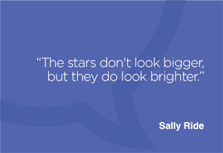 The stars don't look bigger, but they do look brighter.