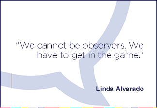 We cannot be observers. We have to get in the game.