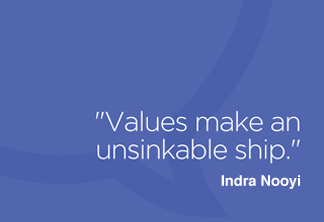 Values make an unsinkable ship.