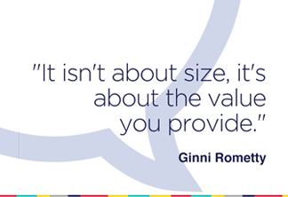 It isn't about size; it's about the value you provide