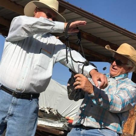 Rope halter demonstration with Steve Edwards