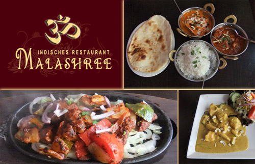 Malashree Restaurant 3-G�nge-Men�