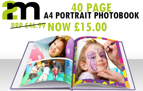 Snap up 68% off a high-gloss 40 page personalised A4 photobook � only �15
