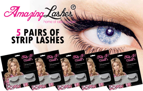 Look Amazing, Feel Amazing, Wear Amazing  with five long-lasting strip lashes for just £24.50