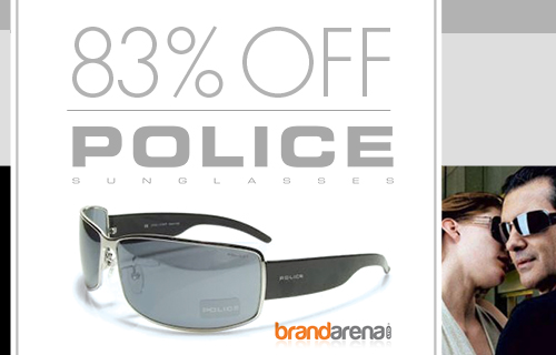 83% off Police sunglasses - usually �200, now �35