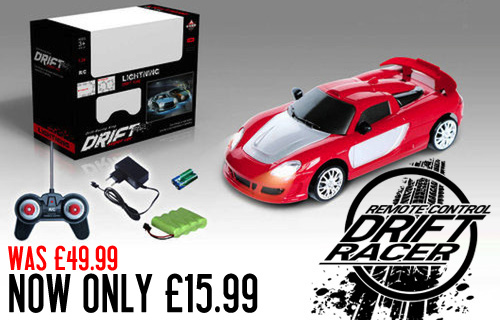 Burn rubber with an RC Drift race sports car from Channel Goods for just �15.99