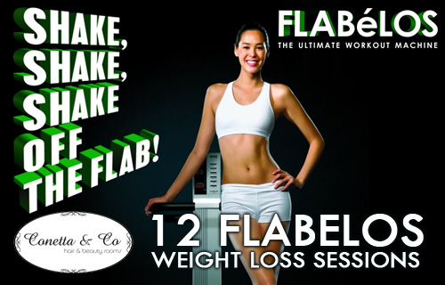 Shake it baby - 12 Flabelos weight loss system sessions for £10 at Conetta Beauty Rooms