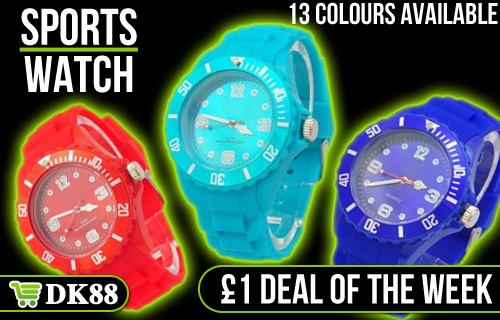 �1 for a super-cool silicone fashion watch � Grab one quick as time is ticking on this fabulous deal from DK88