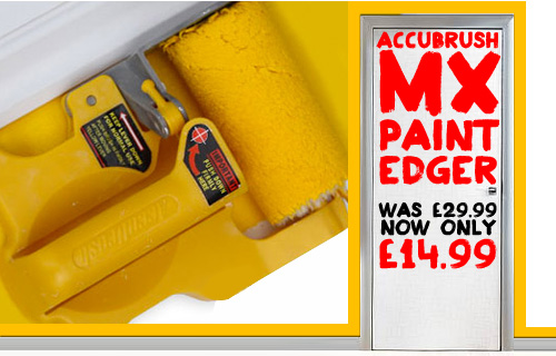 Decorate the whole room in no time! Get a AccuBrush Paint Edger from Easy Walls now �14.99 Normally �29.99