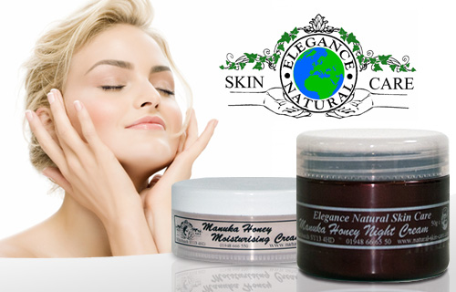 Looking good, Honey! 70% off a Manuka honey moisturiser and night cream from Elegance Natural Skin Care