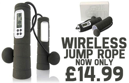 Jump to it! A high-tech wireless jump-rope for �14.99