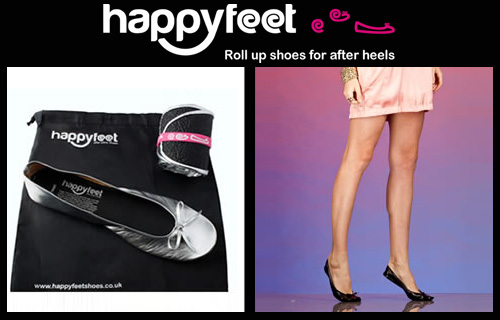 A pair of Happy Feet roll-up shoes for only �4