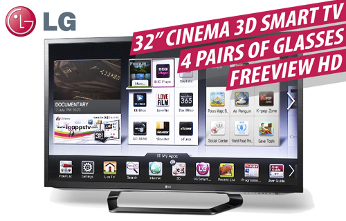 Enjoy a Cinema 3D HD experience with �200 off a 32inch LG 3D TV