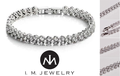 Put a bit of sparkle into your day with an 18k gold plated Cubic Zirconia bracelet for just �22
